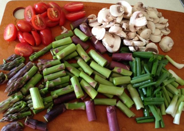 Asparagus, Mushroom and Tomato Stir Fry 5