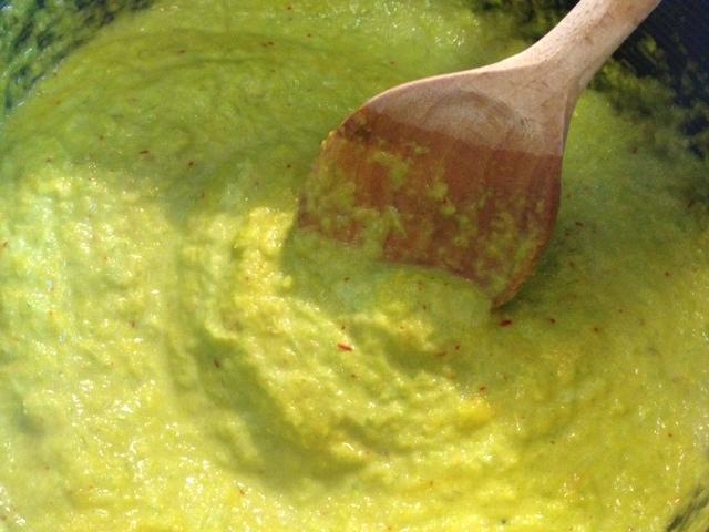 asparagus & saffron fetuccini 6