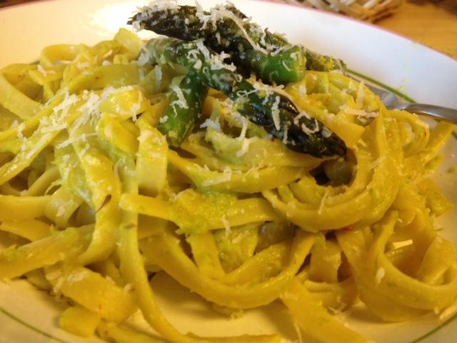 asparagus & saffron fetuccini 8