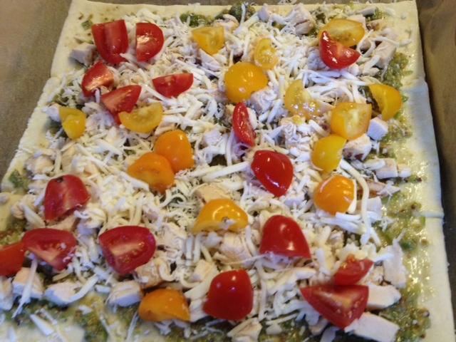 Chicken Pesto Tart | Andrea's Garden Cooking