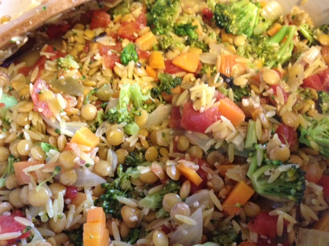 Lemony Lentil, Orzo & Broccoli 3