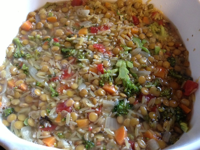 Lemony Lentil, Orzo & Broccoli 4