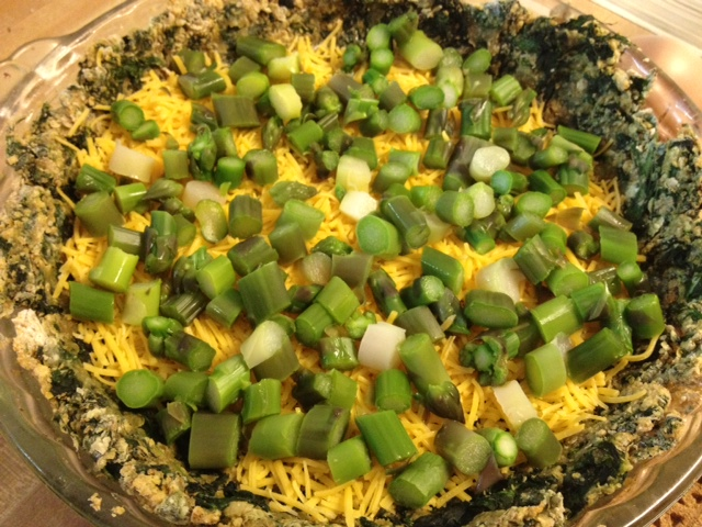 asparagus quiche with spinach crust 6