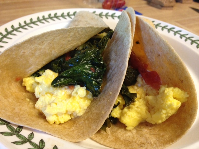 Kale, Egg & Tomato Taco 2