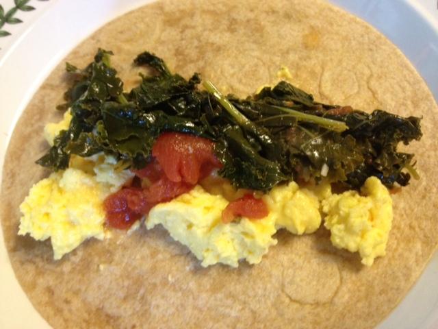 Kale, Tomato & Egg Taco 1