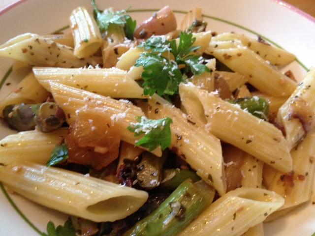 Mediterranean Asparagus & Artichoke Pasta 8