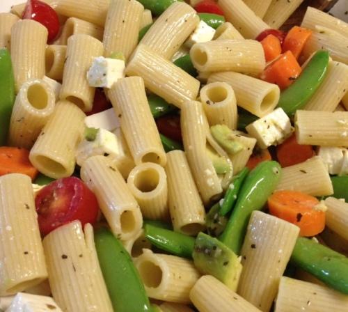 Snap Pea, Carrot, Avocado, Tomato & Feta Pasta 5