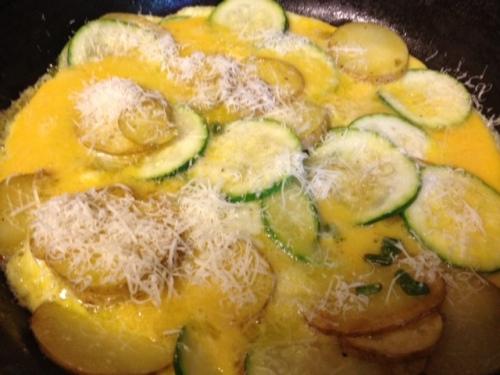 Potato Zucchini Garlic Scape Frittata 5