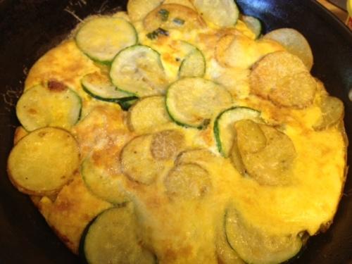 Potato Zucchini Garlic Scape Frittata 7
