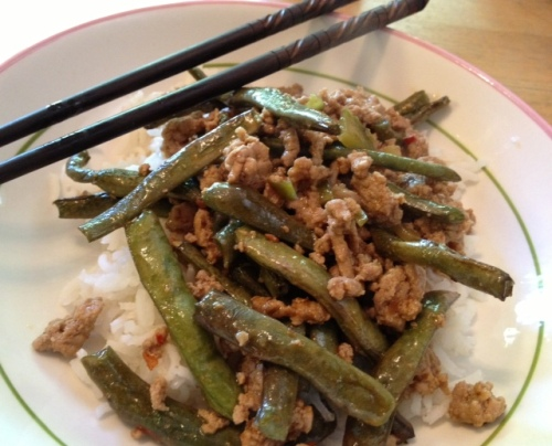 turkey & string-bean stir-fry 6