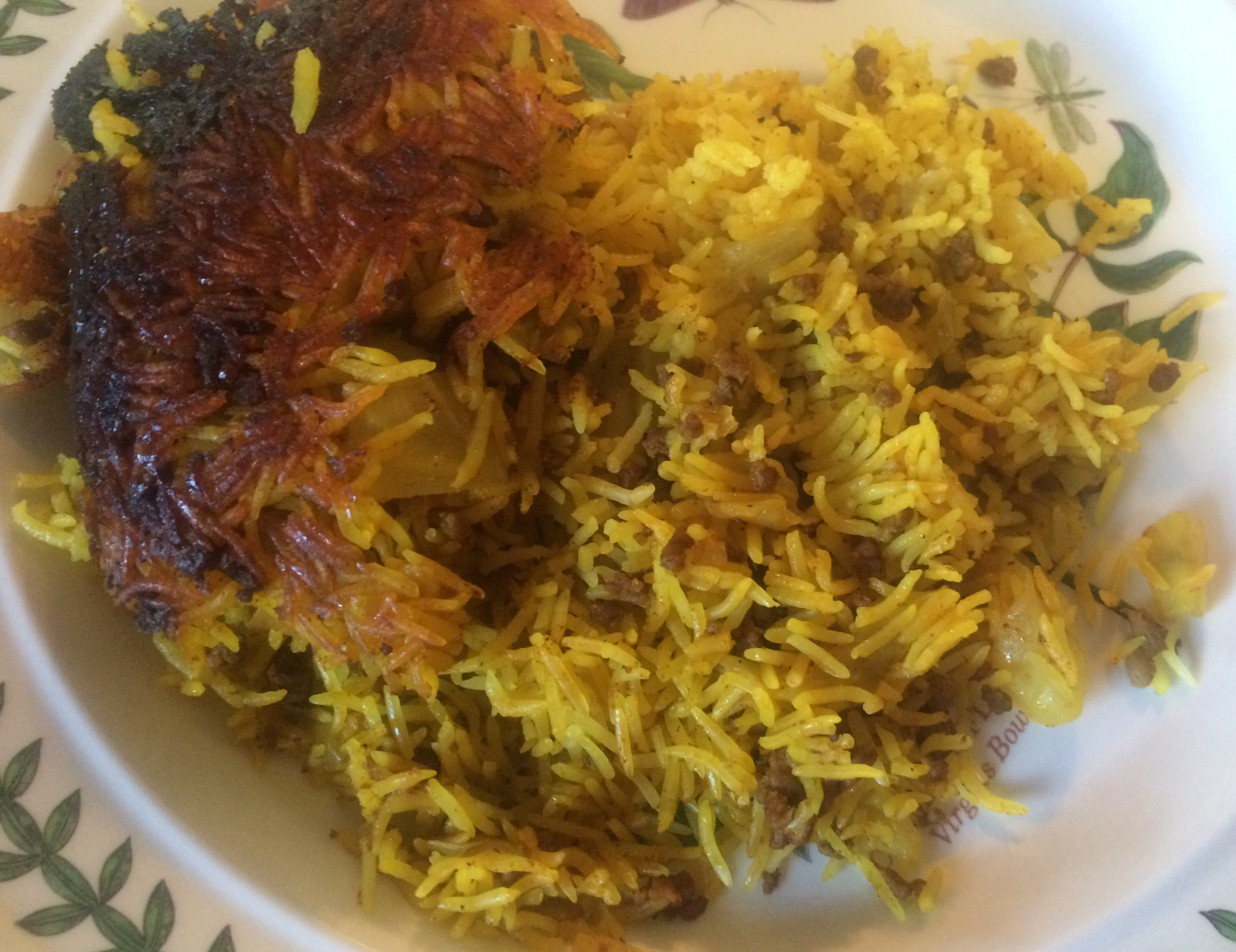 Kalam Polo (Persian Rice with Cabbage and Beef) | Andrea\'s Garden ...